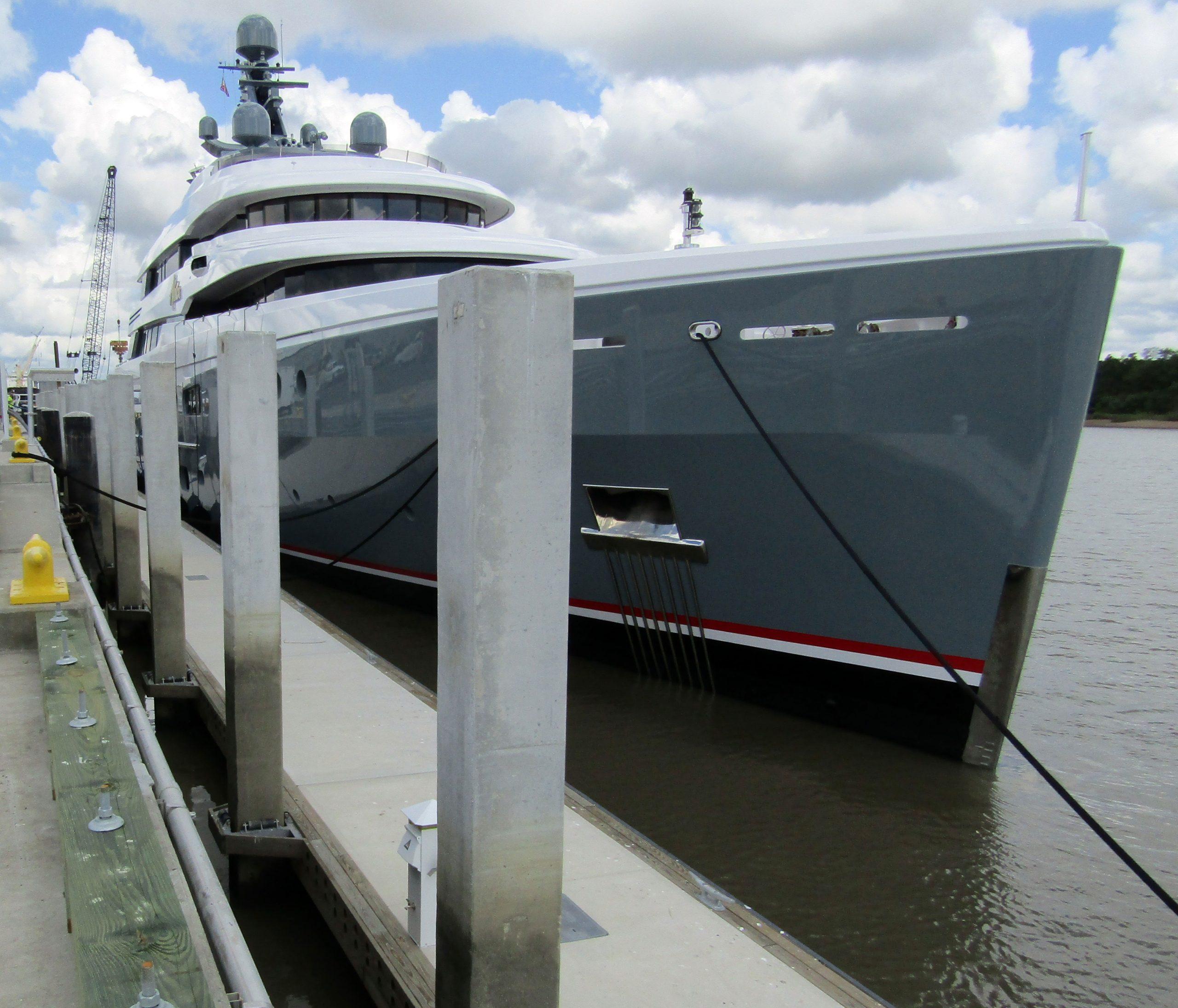 Aviva on Floating Dock